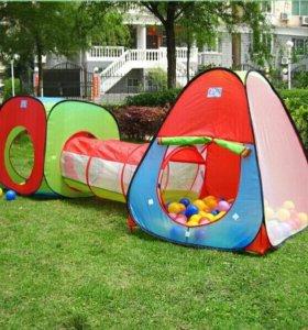 Детская палатка из трех частей