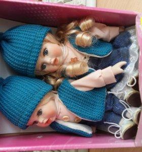 кукла коллекционная олег и аня 20см