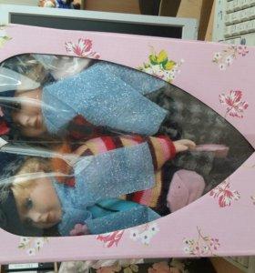 куклы коллекционные парочка в кофточках