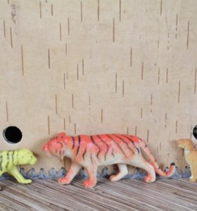 ИГРУШЕЧНЫЕ ЗВЕРИ: тигр, леопард, бегемот