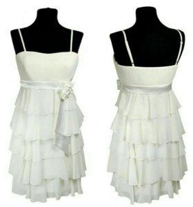 Платье белое р. 44, 46
