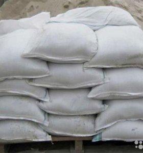 Песок строительный сеяный в мешках 50кг