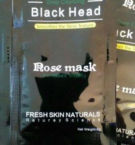 Черная маска пленка , с ароматом розы.