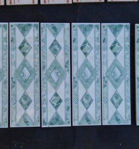 Плитка керам облиц Бордюр Ресса 220421 зелёный