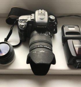 Фотокамера Sony a580 + 2 объектива и вспышка