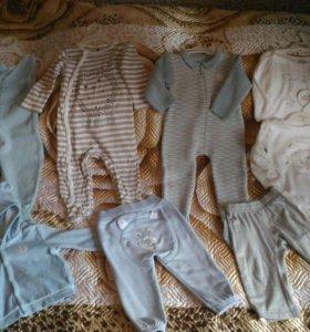Пакет детской одежды р.74-80