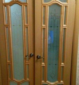 Дверь натуральный шпон двойная