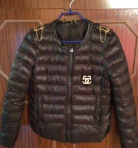 Коротенькая курточка+хомут в подарок