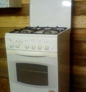 Газовая плита с электродуховкой гефест.
