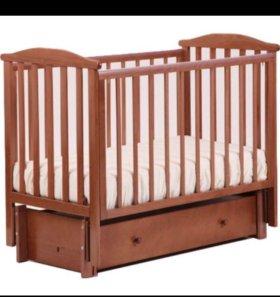 Детская кроватка Лютик Кубаньлесстрой с матрасом