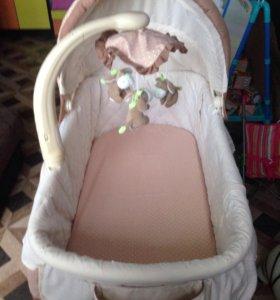 Кровать люлька с рождения от 0 до 6 месяцев(80см)