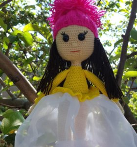 Кукла ручной работы (связана крючком)
