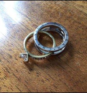 Кольцо Булгари 2в1