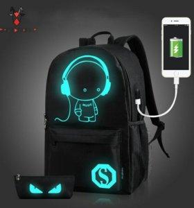 рюкзак для ноутбука со светоотражающими элементами