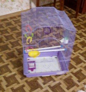 Клетка со всем для попугая