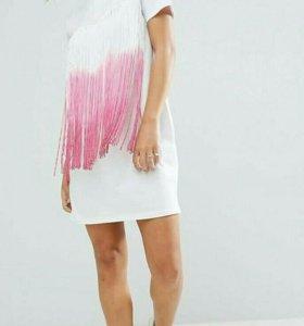 Платье -футболка с бахромой АSOS