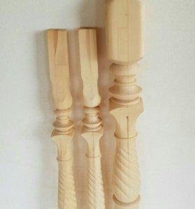 Балясины и столбы для лестницы.