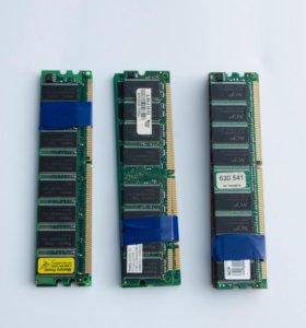 Оперативная память для ПК DDR 256 и 512 Мб