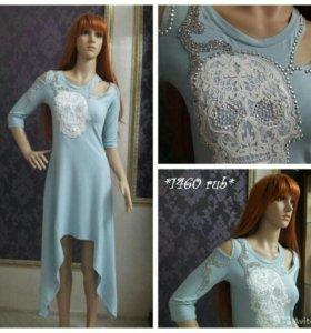 Платье голубое Турция. Имеется несколько размеров