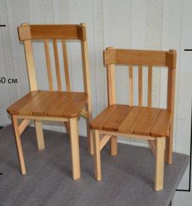 Детские стулья из массива дуба
