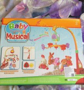 Музыкальная карусель-подвеска на кроватку