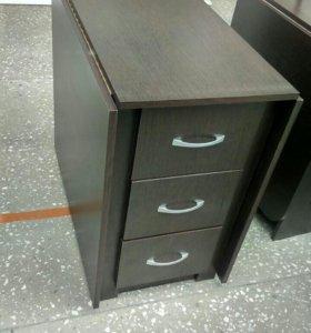 Стол тумба с выдвижными ящиками