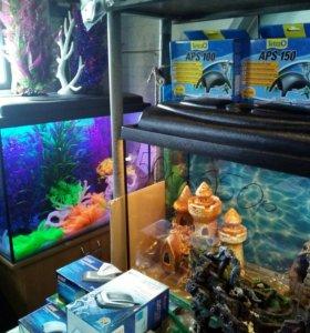 Новый 90 литровый аквариум и другие.