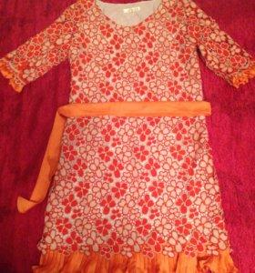 Платье гипюровое, из натуральных тканей