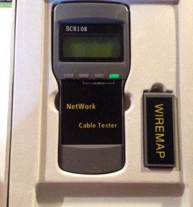 Тестер кабеля network sc8108 5bites для RJ-45 (LCD