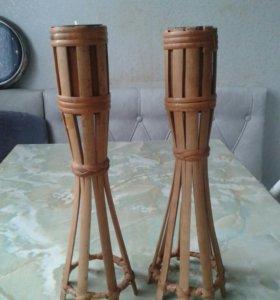 Подсвечники деревянные 2 шт.