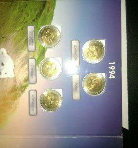 Красная книга монеты набор