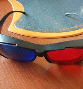 🤓 3D очки стерео анаглиф красно-синие