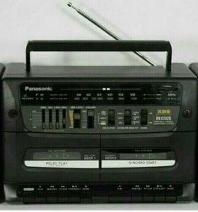 Магнитофон 90-х годов panasonic музыка касетный