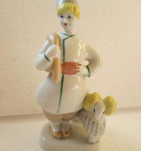 Мальчик пастух с бараном. ЗХК Полонне.