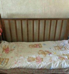 Детская кроватка до 120 см. и матрац в подарок