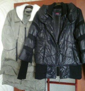 Продам две куртки теплые б/у