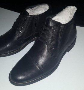 Ботинки новые кожа 38 размер