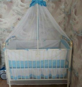 Детская кроватка-трансформер, манеж Geoby
