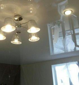 Ремонт и перетяжка натяжных потолков