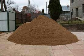 Песок, щебень, отсев,земля.