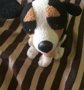 Собака плюшевая