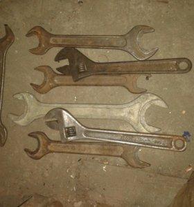 Большой набор ключей от22-24.50-55.цена за шт