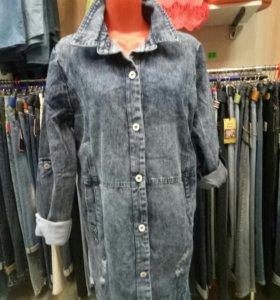 Кардиган женский джинсовый, размеры 2XL-6XL