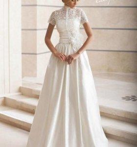 Свадебное платье+болеро новое