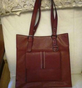 Женская бордовая сумка