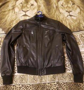 Мужская куртка под кожу 46-48