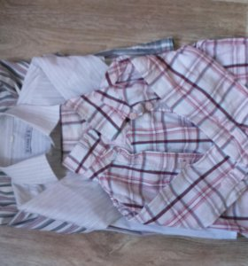 Три отличные рубашки на мальчика 3-4 года