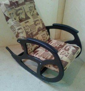 Кресло качалка Релакс, замша 8832-1