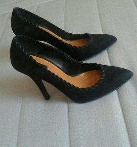 Туфли zara натуральная замша, размер 35-36