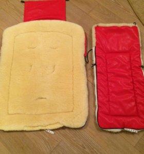 Меховой конверт (кожа/натуральная овчина)